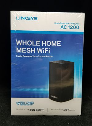 Linksys Velop Dual Band AC1200 Mesh WiFi System 1 Pack Expandable for Sale in Columbus, OH