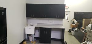 Black laminated kitchen cabinets for Sale in St. Charles, IL