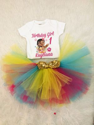 Moana birthday outfit for Sale in Waterbury, CT