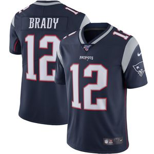 Men's New England Patriots Tom Brady Navy NFL 100 Stitched Jersey (LARGE) for Sale in North Miami Beach, FL