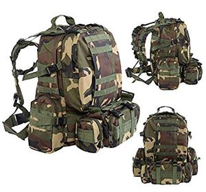 New $20 each 55 liter outdoor military tactical backpack rucksack camping army marines military style army camo jungle camaflouge color for Sale in Los Angeles, CA