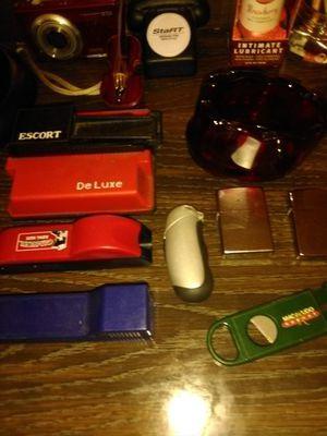 2 ZIPPO Lighers I1 cigarette machines1 Bic lighter holder 1 cigar cutter for Sale in Stockton, CA