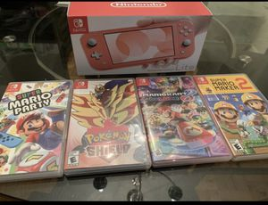 BRAND NEW Nintendo Switch Coral LIMITED COLOR $205 or $230 with 1 game . PICK UP ONLY-price is FIRM for Sale in Alexandria, VA