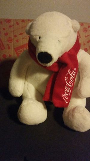 Stuffed Coca Cola Bear Toy for Sale in Pearland, TX