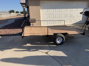 Lightweight trailer Dump / Trash Runner flatbed 5.5x8' bed for Sale in Phelan, CA