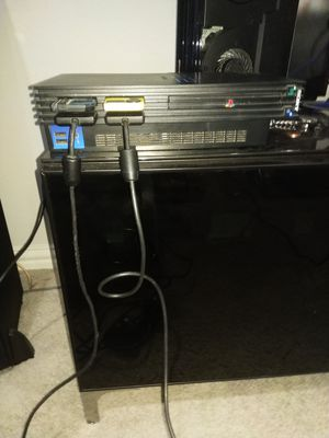 Ps2 with 150 games two controllers with hdtv component cable for Sale in Lewisville, TX