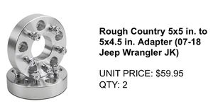Jeep Wrangler Brand new spacers set of 4 for Sale in Brooklyn, NY
