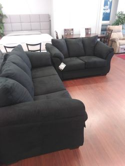 Ashley Darcy Black Fabric Sofa & Loveseat for Sale in Parma Heights,  OH