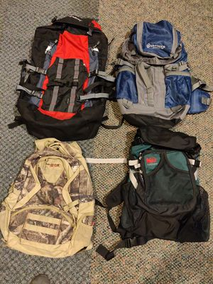 Big sale backpack $25 - $40 for training/camping and regular have more. for Sale in Gresham, OR
