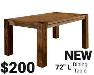Dark Oak Rustic Style Dining Table for Sale in Ontario, CA
