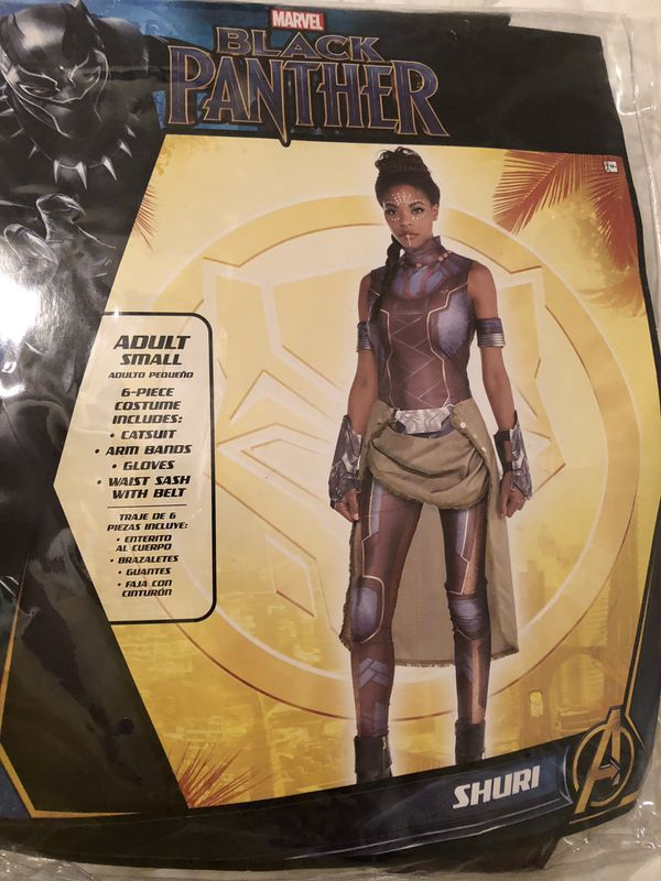 "Halloween Costume Black Panther ""Shuri"" ladies small (4-6) costume NEW"