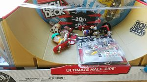 Tech deck ultimate half pipe and extras for Sale in Tacoma, WA