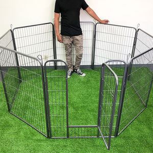 """Brand New $110 Heavy Duty 40"""" Tall x 32"""" Wide x 8-Panel Pet Playpen Dog Crate Kennel Exercise Cage Fence Play Pen for Sale in Santa Fe Springs, CA"""