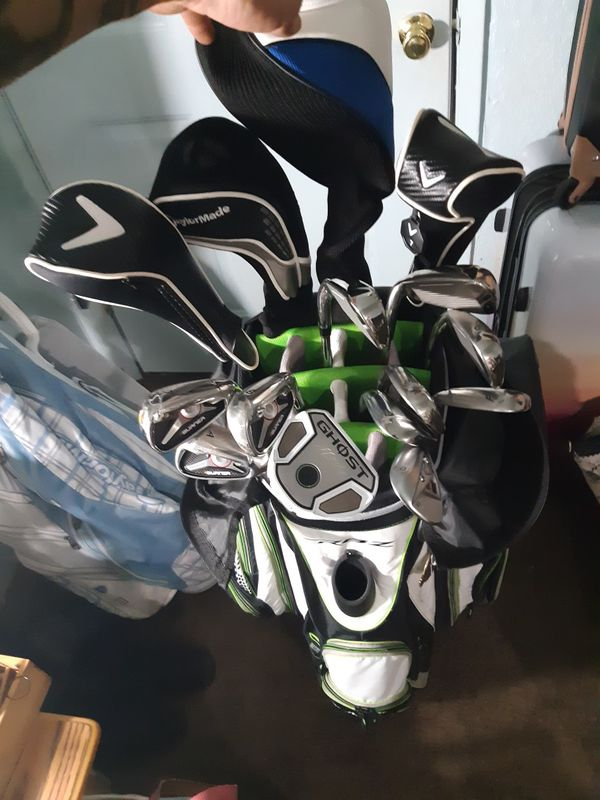 Taylormade RBZ golf bag, with clubs