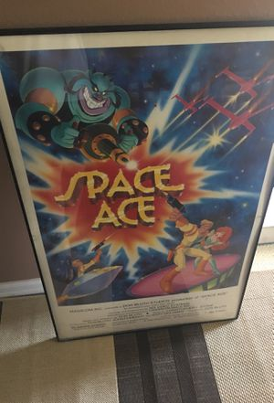 SPACE ACE Arcade video game poster for Sale in Yorba Linda, CA