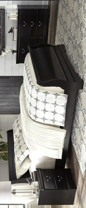 Huey Vineyard Black Sleigh Bedroom Set $39 DOWN PAYMENT ONLY for Sale in Arlington, VA