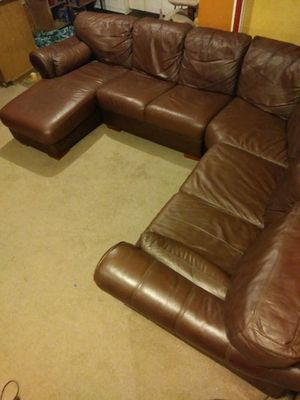 Premium Leather sectional Couch for Sale in Detroit, MI