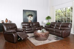 Madrid 3 pcs Brown Reclining Sofa, loveseat and chair $999. BLACK FRIDAY SALE. SAME DAY DELIVERY. NO CREDIT CHECK FINANCING for Sale in Tampa, FL
