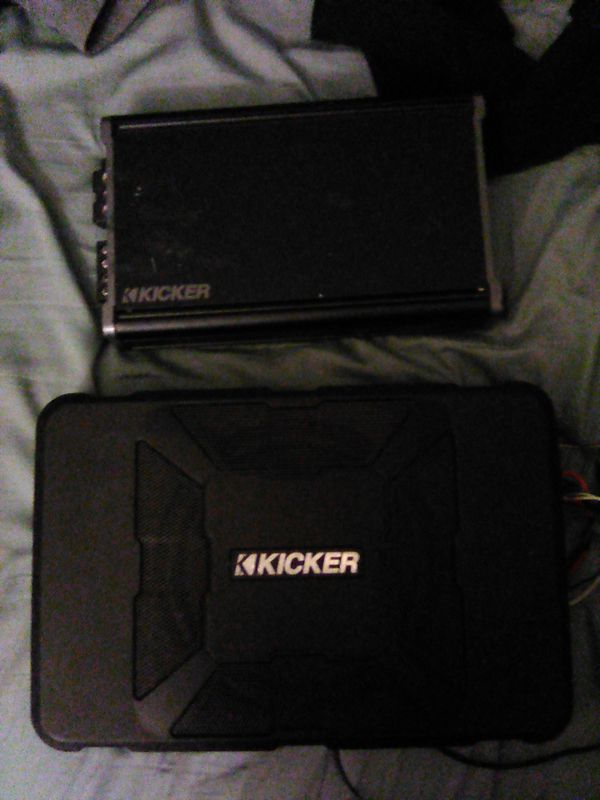 Kicker compact subwoofer and amp