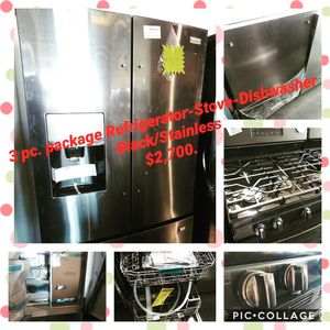 💥3Pc Package Deal💥Ref/Stove/Dishwasher for Sale in North Las Vegas, NV
