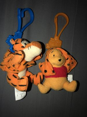 Disney Winnie the Pooh Bear and Tigger Plush Stuffed Animal Toy Keychain for Sale in Trenton, NJ