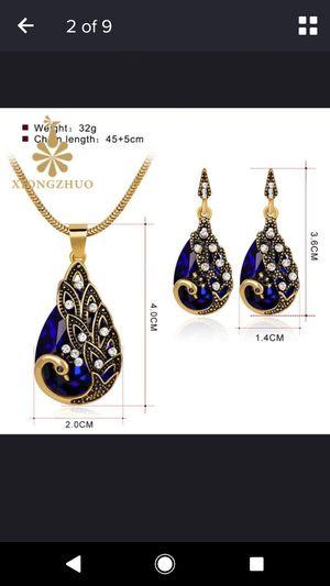Blue Peacock necklace set for Sale in Arlington, VA