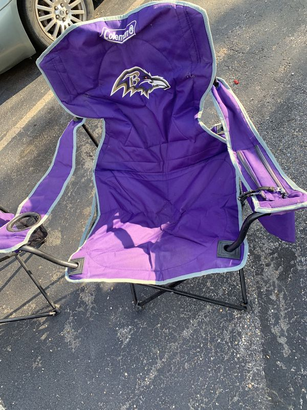 Baltimore ravens lawn chairs by Coleman