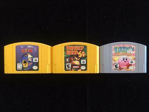 Nintendo 64 N64 Game Lot of 3 (Earthworm Jim 3D Donkey Kong64 Kirby64) for Sale in Atlanta, GA
