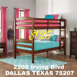 New Twin Over Twin BUNK BED NO MATTRESS $125 for Sale in Dallas, TX