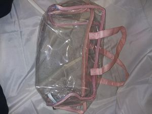 Pink clear bag for Sale in Wichita, KS