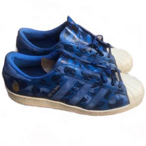 ADIDAS SUPERSTAR SHELL TOE Low Blue Camo BAPE x UNDFTD Shoes Sneakers Size 12 item is in very good preowned condition. Original box not included. Sold for Sale in Los Angeles, CA