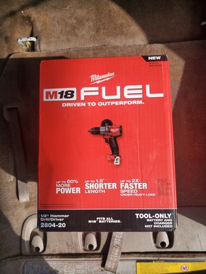 Milwaukee M18 FUEL 18-Volt Lithium-Ion Brushless Cordless 1/2 in. Hammer Drill / Driver (Tool-Only) for Sale in Stickney, IL