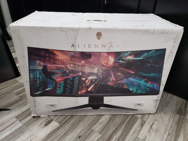 34 Alienware Ultrawide Monitor
