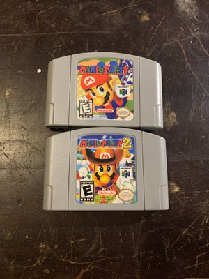 Mario party 1 and 2 Nintendo 64 n64 for Sale in Worcester, MA