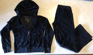 VS VICTORIA'S SECRET Plush & Lush Black VELOUR Pants Hoodie Sweat Jacket S SMALL for Sale in Federal Way, WA