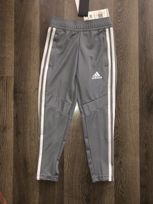 Adidas Gray Fitted Track Pants (Girls) 2XS for Sale in Chicago, IL