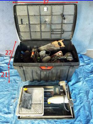 """Big Tool Box(21""""x 27""""x 37"""") + Tools + Tile Saw, As Is... for Sale in West Los Angeles, CA"""