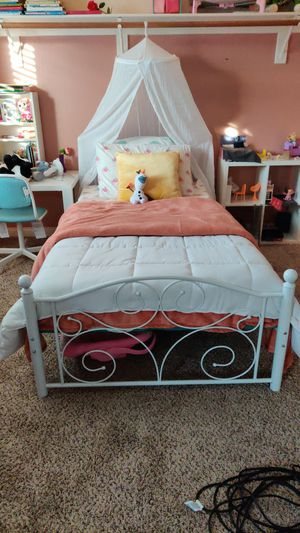 Twin metal bed frames ONLY!!! I have 2 of the same $100 each for Sale in Hesperia, CA