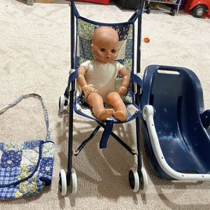 Doll stroller, car seat and diaper bag set for 5$ for Sale in South Windsor, CT
