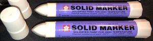 BRAND NEW 2 Sakura solid markers WHITE, 2 Sakura solid markers YELLOW for Sale in Yorba Linda, CA