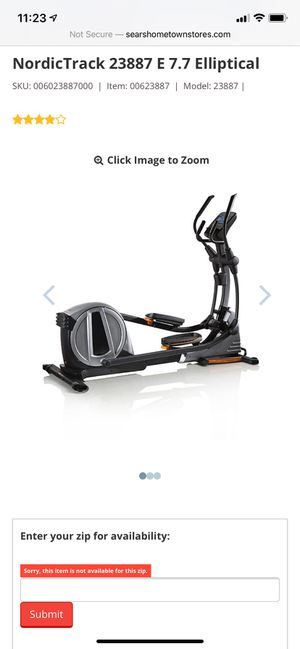 Nordictrack Elliptical 23887 E 7.7 $1200 New...selling for $650 for Sale in Sun City, AZ