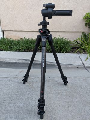 Manfrotto 190CXPRO3 Carbon Fiber Tripod with Manfrotto 322RC2 Improved Grip Action Ball Head for Sale in Long Beach, CA