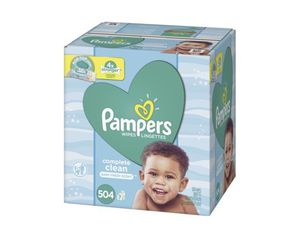 2 boxes of Pampers wipes (504 count each box ) for Sale in Philadelphia, PA