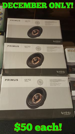 12 inch Infinity Subs $50 each this month only for Sale in San Bernardino, CA