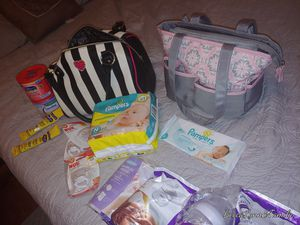 Diapers newborn pacifiers wipes Avent bottles Betsey Johnson purse but doubles as a diaper bag everything here as shown make me an offer for Sale in Gilbert, AZ