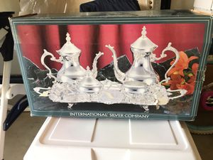 Silver plated tea set for Sale in Oceano, CA