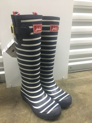 Joules Navy White Stripe Rain Boots for Sale in Vallejo, CA