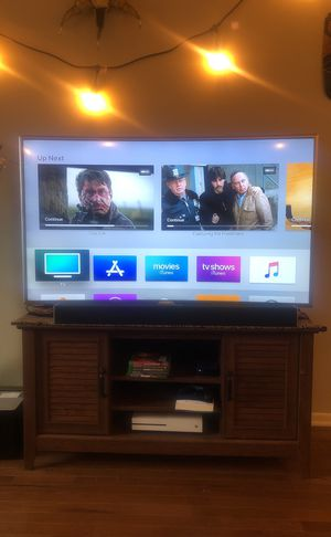 Samsung 55 inch curve TV with Apple TV for Sale in Nashville, TN