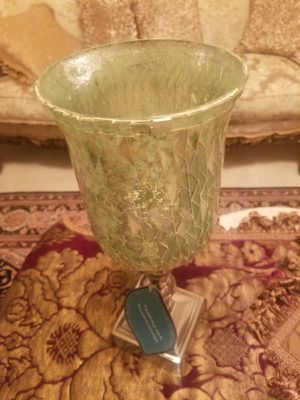 Crystallized Glass Candle Holder for Sale in Boyds, MD