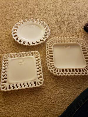 "Fenton and Milk Glass 7.5"", 9"", 9"" plates for Sale in Arlington, VA"